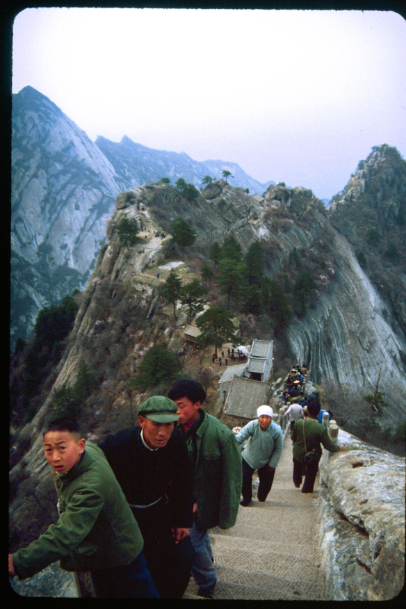 Summit of Hua Shan, 1982. Photo © Patti Isaacs.