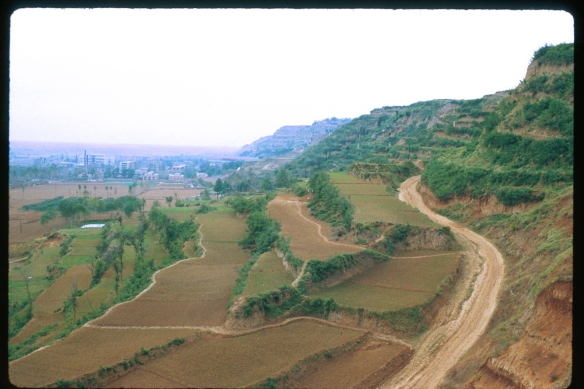 Foothills of the Qinling Mountains south of Xi'an, Shaanxi. ©1981 Patti Isaacs.