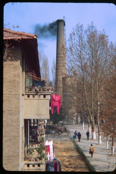 The central heating plant at Jiaotong University in Xi'an, 1981.